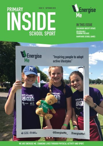 Inside Primary School Sport Magazine Issue 12 September 2018