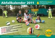 Abfallkalender 2011 - GEM