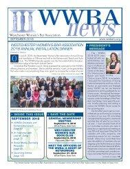 WWBA September 2018 Newsletter