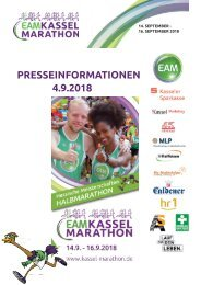 Pressemappe EAM Kassel Marathon PK 4.9.2018