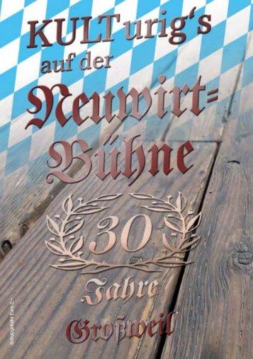 30 Jahre Neuwirtbuehne Jubiläums-Broschuere