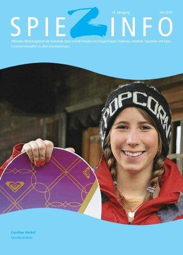 Caroline Höckel Snowboarderin 14. Jahrgang Juli 2010 - in Spiez