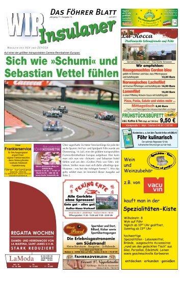 Sich wie »Schumi« und Sebastian Vettel fühlen - WIR Insulaner