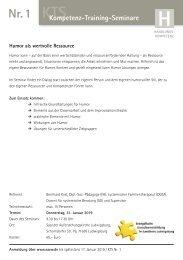 Kompetenz-Handlungs-Seminare