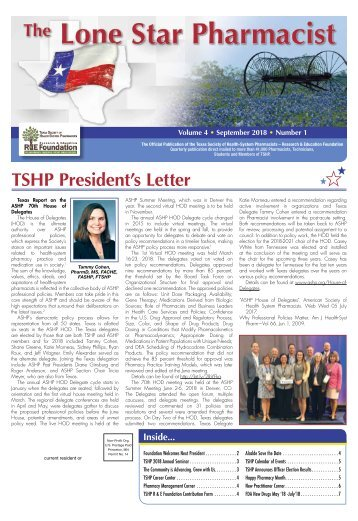 The Lone Star Pharmacist - September 2018