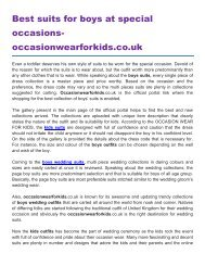 Best suits for boys at special occasions occasionwearforkids.co.uk