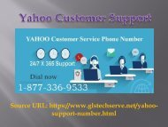 Yahoo Toll Free number 1877-503-0107 (USA/ Canada)