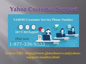 Yahoo Toll Free number +1-877-336-9533 (USA/ Canada)