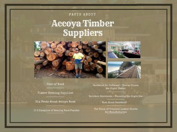 Accoya Magazines