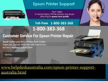 1-800-383-368 Supportive Epson Printer Service Number Australia