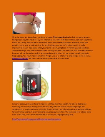 Phenterage Garcinia - Fat Burner Supplement