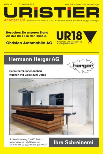 36.2018 Uristier – Der Urner Gratisanzeiger