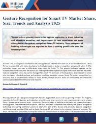 Gesture Recognition for Smart TV Market Share, Size, Trends and Analysis 2025