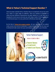 Problems solved by Yahoo Tech Support Number