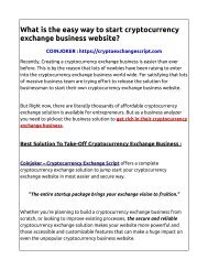 Cryptocurrency Exchange Website Script