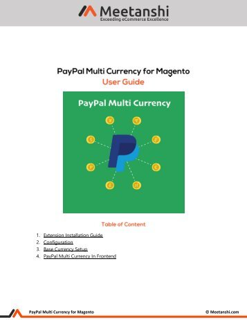 Magento Paypal Multi Currency