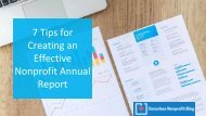 7 Tips for Creating an Effective Nonprofit Annual Report