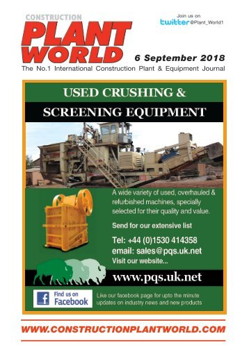 Construction Plant World 6th September 2018