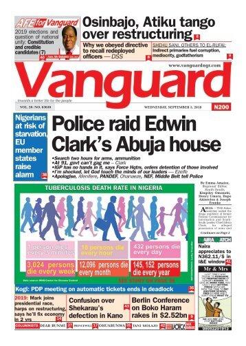 05092018 - police raid Ediwn Clark's Abuja house