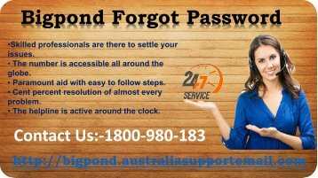 Forgot Bigpond Password? Get Instant Help for It | 1-800-980-183