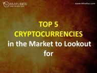 5 Top Performing Cryptocurrencies of 2018