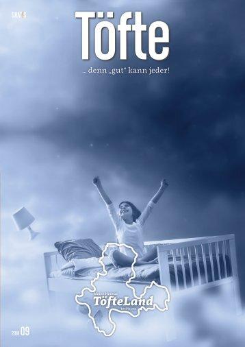 Töfte Regionsmagazin 09/2018 - Gesunder Schlaf / Auto