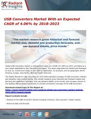 USB Converters Market With an Expected CAGR of 4.06% by 2018-2023