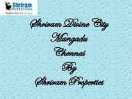 Shriram Divine City - 2 & 3 BHK Premium Apartments in Chennai