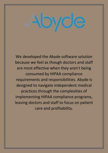 HIPAA Training - Abyde
