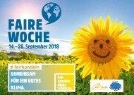 Programmheft Faire Woche 2018 Heidelberg