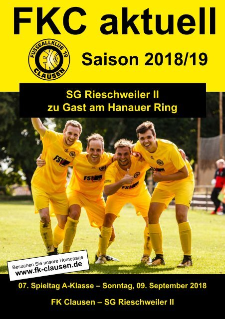 FKC Aktuell - 07. Spieltag - Saison 2018/2019