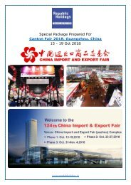 Canton Fair 2018 Tour Package, 15 - 19 Oct, Guangzhou, China