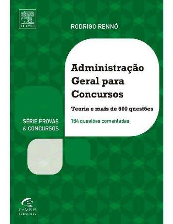 [Administração] Rodrigo Renno Administração Geral