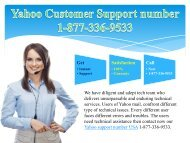 Yahoo Customer Support number 1-877-336-9533
