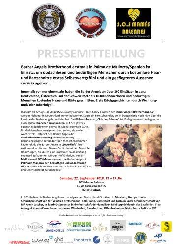 Pressemitteilung Barber Angels_Palma de Mallorca_September 2018