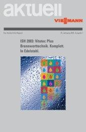 ISH 2003: Vitotec Plus - Viessmann