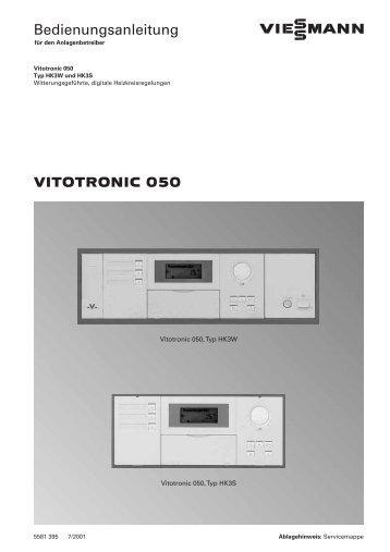 Vitotronic 050 - Viessmann