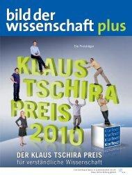 bild der wissenschaft plus 2010 - Klaus Tschira Preis für ...