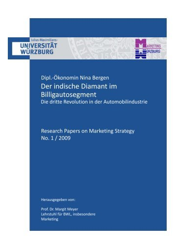 Der indische Diamant im Billigautosegment - Universität Würzburg