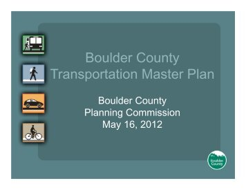 TR 1.01 Support Transit Service - Boulder County