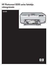 HP Photosmart 8200 series lietotāja rokasgrāmata