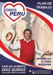 Plan de Trabajo de Carlos Díaz Quiroz, Somos Perú, Cerro Colorado
