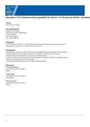 Workshop 3. Teil: Professionalisierung zeb/NLP for finance - In ...
