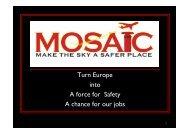MOSAIC Group presentation for the ATCEUC Berlin meeting