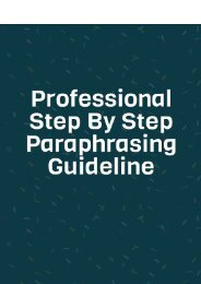 Professional Step by Step Paraphrasing Guideline