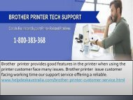 Greatest  Come To A Decision  1-800-383-368  Brother Printer Support Number