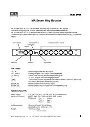 MA Seven Way Booster - SINUS Event-Technik GmbH