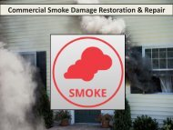 Commercial Smoke Damage Restoration & Repair in Raleigh NC