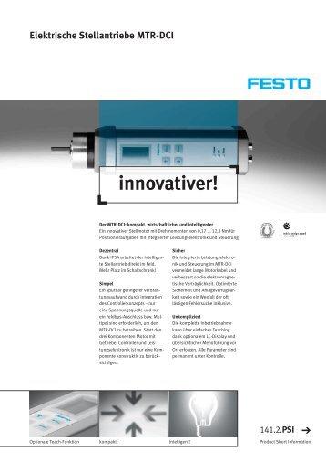 Elektrische Stellantriebe MTR-DCI innovativer! - Festo