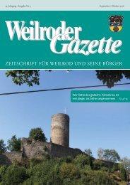 Weilroder Gazette September/Oktober 2018